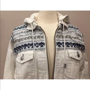 Free People Jackets & Coats - NWT FREE PEOPLE YARN DYE OVERSIZED DENIM PARKA  XS